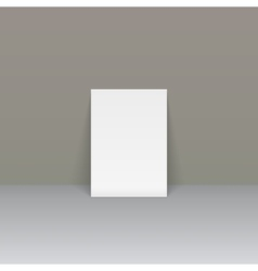 Sheet of paper beside the wall vector image
