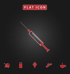 syringe computer symbol vector image