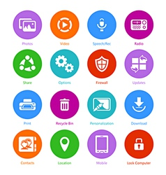 System flat icons - Set II vector image vector image