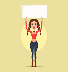 Woman character protest vector