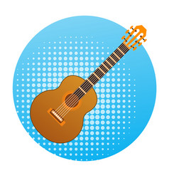 acoustic guitar icon music instrument concept vector image vector image