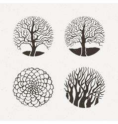 Circle trees set Pattern vector image vector image