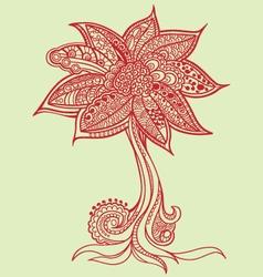 flower doodles vector image vector image