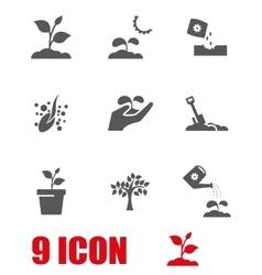 grey growing icon set vector image vector image