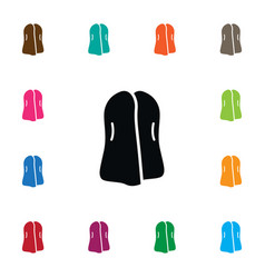 isolated clothing icon garb element can be vector image vector image