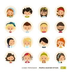 People avatars collection Set of Hipster avatar vector image vector image