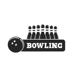 set of bowling emblems vector image