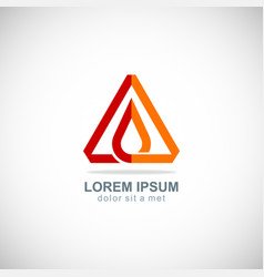 Triangle oil drop logo vector