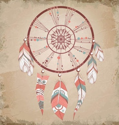 vintage dream catcher vector image