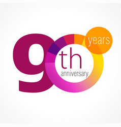 90 anniversary chart logo vector
