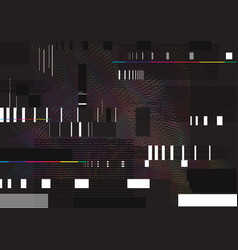 abstract glitch background glitched vector image