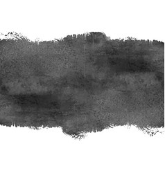 Abstract watercolor black grunge stain background vector
