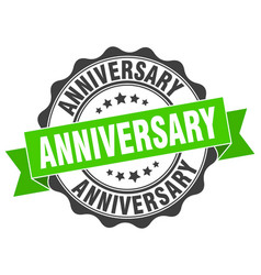 Anniversary stamp sign seal vector