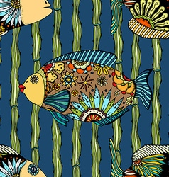 background of abstract fish vector image vector image