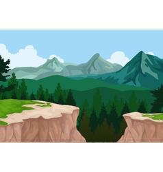 Beauty mountain cliff landscape background vector