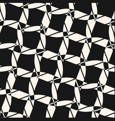 black and white seamless pattern diagonal ropes vector image