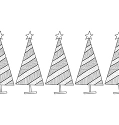 Black and white seamless pattern with Christmas vector image