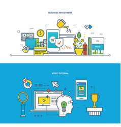 business investments management education vector image