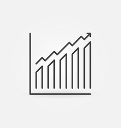 chart with arrow outline concept icon vector image