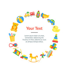 child toys banner card circle vector image