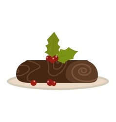 Chocolate roll vector