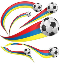 colombia background with soccer ball vector image