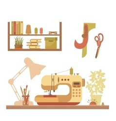 Colorful sewing machine vector