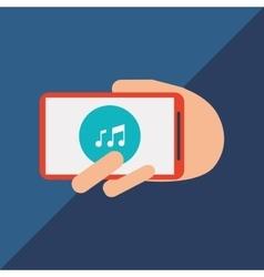Communication design smartphone icon Colorful vector image