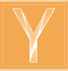 Decorative font stylized letter y vector