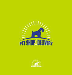 Dog food pet shop products care vet vector