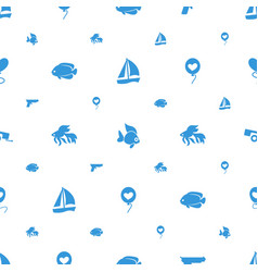 Eps10 icons pattern seamless white background vector