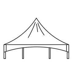Festival tent icon outline style vector