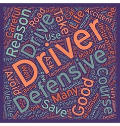 Five Good Reasons To Take A Defensive Driver vector
