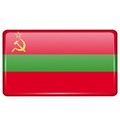 Flags Transnistria in the form of a magnet on vector