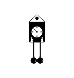 Flat icon in black and white style Christmas vector