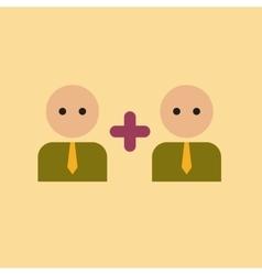 flat icon on stylish background gay family vector image