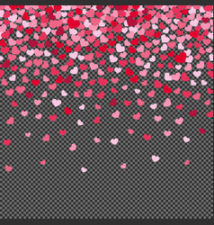 flying hearth confetti isolated on transparent vector image vector image