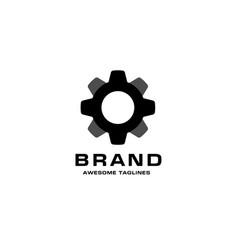 gear icon with grey color vector image