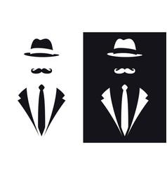 Gentleman symbols avatar icon male sign vector