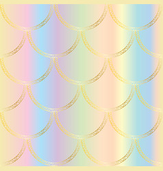 golden mermaid tail texture fish scales vector image