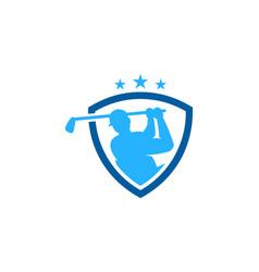 guard golf logo icon design vector image