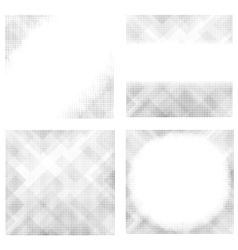 Halftone Patterns Collection Dotted Background vector