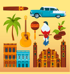 Havana cigar and others different cultural vector