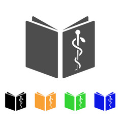 healthcare book flat icon vector image