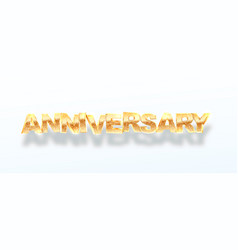 isolated golden anniversary word 3d vector image