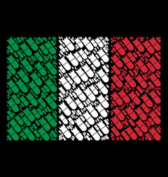 italian flag pattern of aviation bomb icons vector image
