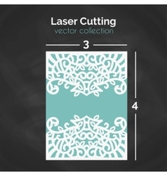 Laser Cutting Template Carverd Greeting Card vector