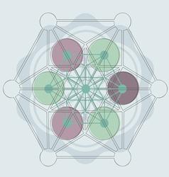 magik symbol blue vector image