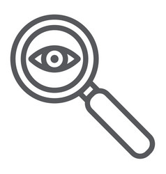 Observation line icon surveillance and lens eye vector