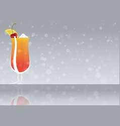 Official cocktail icon the unforgettable planters vector
